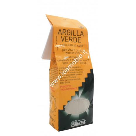 Argilla verde essiccata al sole, per viso, corpo e capelli, artrite, acne, infiammazioni 1kg - Argital