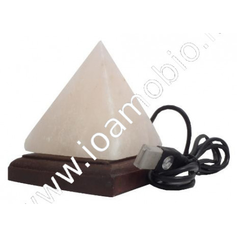 Lampada USB ai Cristalli di Sale - Forma Piramide Multicolore - h.10cm