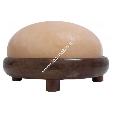 Lampada Haloterapia con Base in legno - Diametro 22cm