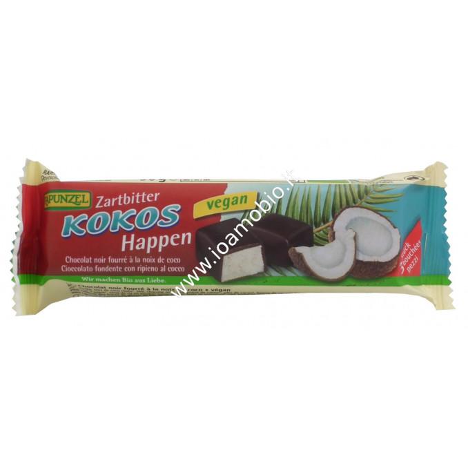 Barretta di Cioccolato Nero Fondente con ripieno al Cocco 50g - Kokos Happen Rapunzel