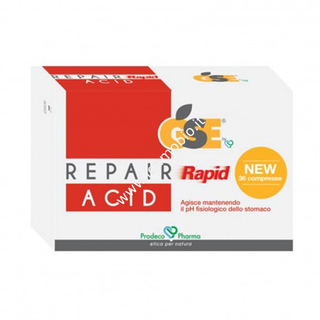GSE Repair Rapid Acid 36 compresse - Acidità di Stomaco