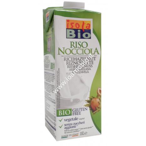 Riso Nocciola Drink 1 lt - Bevanda di Riso alla Nocciola - Latte Vegetale Bio