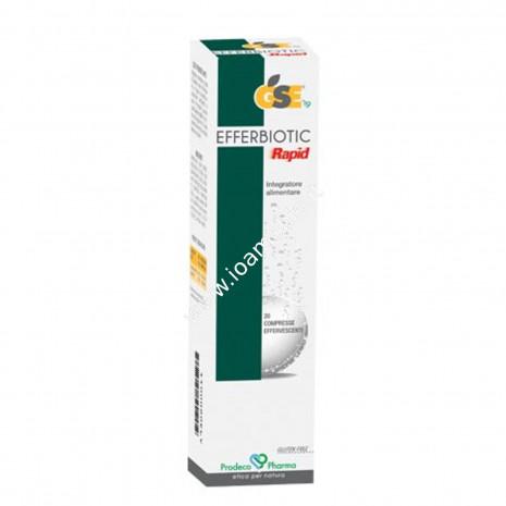 GSE Efferbiotic Rapid 20 compresse efferv. 80g