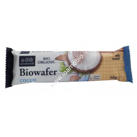 Biowafer Monococco con Cocco 30g - Wafer di Farro Biologico Sottolestelle