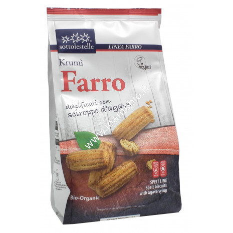 Biscotti Krumì di Farro 300g - Biologici Senza Latte Senza Uova