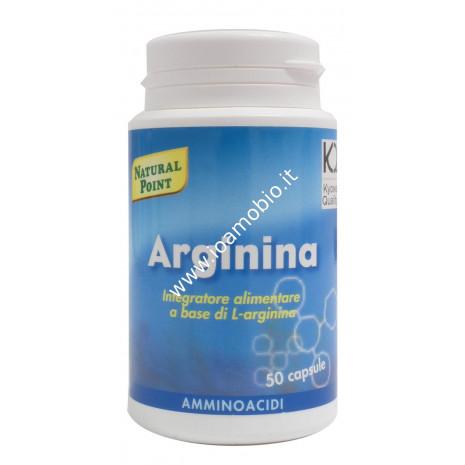 Arginina 50 capsule da 500mg - Amminoacido utile per fatica e performance fisica