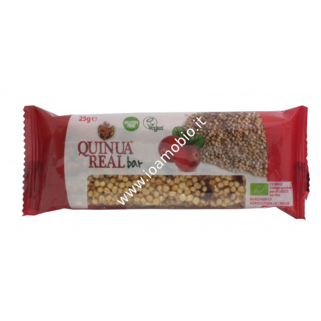 Quinua Real - Barretta di Quinoa con Cranberries 25g - Biologica