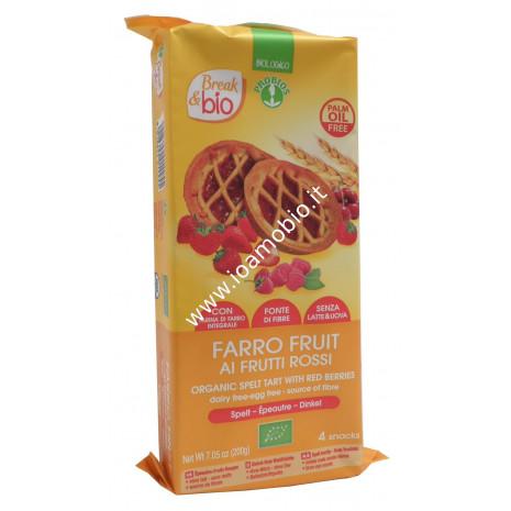 Farro Fruit ai Frutti Rossi 4x50g - Crostatine di Farro Biologiche