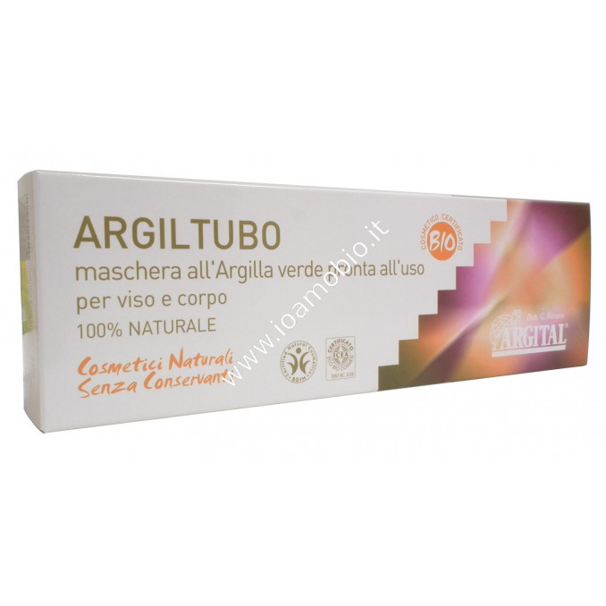 Argil Tubo 250ml - Maschera Argilla Verde pronta all'uso per Corpo e Viso