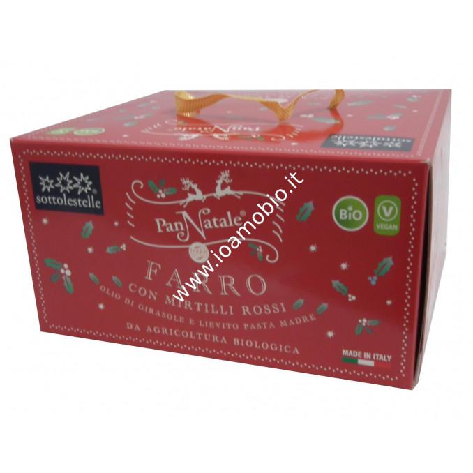 Pannatale di Farro con Mirtilli Rossi 500g - Panettone Biologico Sottolestelle