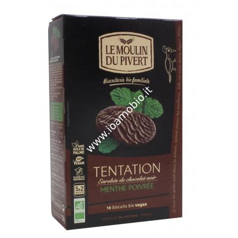 LMDP- Biscotti Tentation alla Menta ricoperti di Cioccolato Fondente 130g