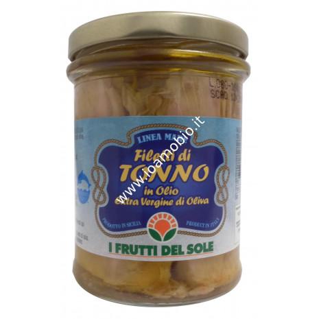 Filetti di tonno in olioextra vergine di oliva biologico 200g - I Frutti del Sole