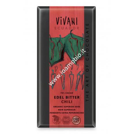 Vivani - Cioccolato Fondente al Chili 100g - Biologico