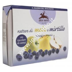 Nettare di Mela e Mirtillo Alce Nero 3x200ml - Succo di Frutta Biologico