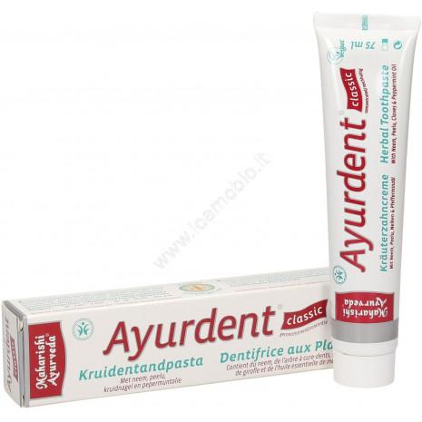 Ayurdent Dentifricio 75ml - Dentifricio Ayurvedico alle Erbe - Biologico