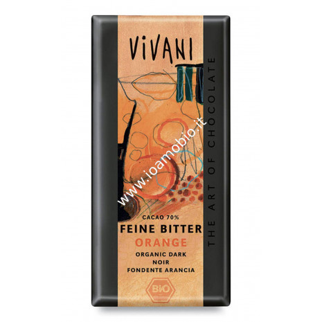 Vivani - Cioccolato Fondente all'Arancio 100g - Biologico