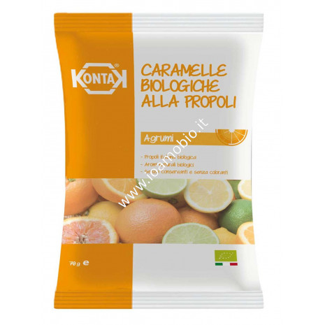 Caramelle Bio Propoli agrumi in busta 70g