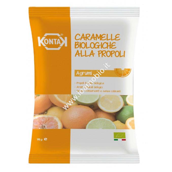 Caramelle Bio Propoli Agrumi in busta 70g - Kontak