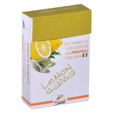 Caramelle Biologiche Propoli Limone e Salvia 31 gr. - Lemon Salvia Kontak