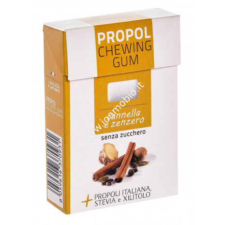 PROPOL GUM con Propoli e Stevia 25 gr. (Cannella/Zenzero)