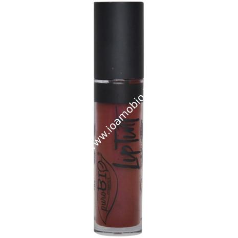 Rossetto Liquido Lip Tint 06 Borgogna Matte Finish - PuroBio Cosmetics