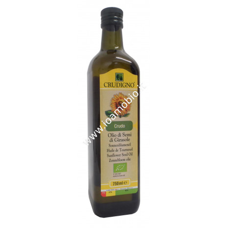 Olio di semi di girasole crudo biologico 750ml