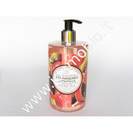 Fragola & papaya - gel detergente mani 500ml