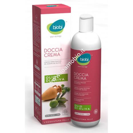 Bjobj - Doccia Crema Olio di Oliva 250ml - Idratante Lenitiva e Rinfrescante