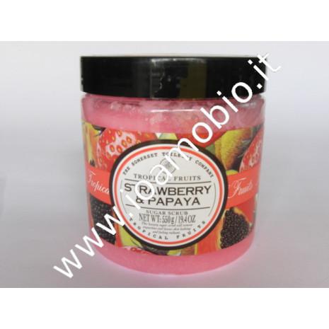 Fragola & papaya - scrub granuli zucchero 550ml