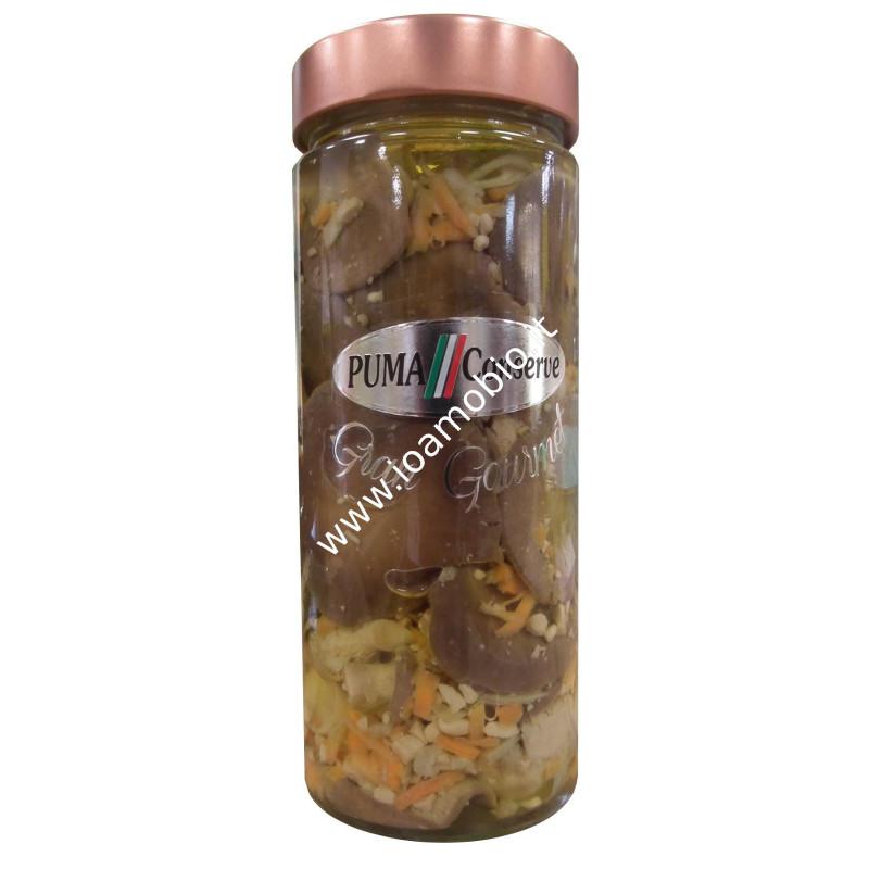 Eccellenze - Funghi card. carote e arachidi 580g
