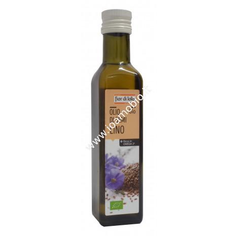 Olio di semi di lino biologico 250ml - Fior di Loto