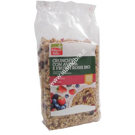 Crunchy con Avena e Frutti Rossi 375g - La Finestra sul Cielo - Colazione
