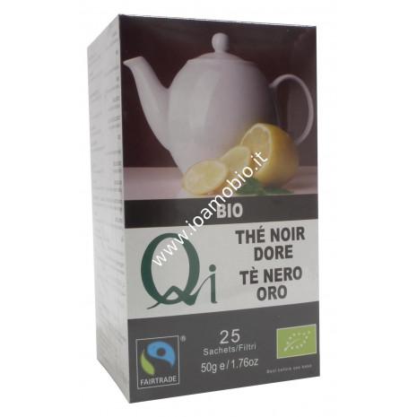 Qi Tè Nero Oro 50g - Infuso Biologico in Filtri