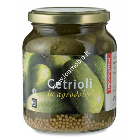 Cetrioli in Agrodolce Machandel 350g - Biologici