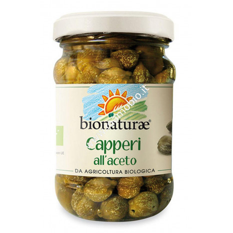 Capperi in aceto Bionaturae 95g - Biologici