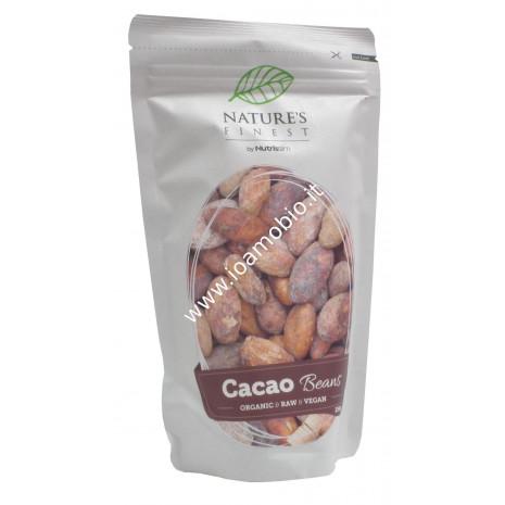Fave di Cacao Criollo Crude Intere Biologiche 250g - Cacao Beans Nutrisslim