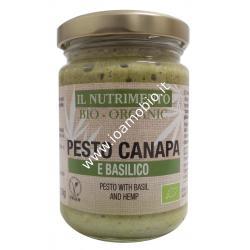 Pesto Canapa e Basilico Bio 130g - Condimento pasta, crostini, bruschette
