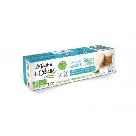 Biscotti al Cocco senza glutine 130g - Biologici - Le Recettes de Céliane