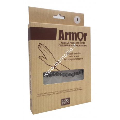 Armor Bracciale Sfere in Shungite - Contro Onde Elettromagnetiche Negative