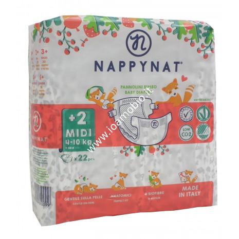 Nappy Nat +2 - Pannolini ecologici e naturali taglia Midi 4 - 10kg