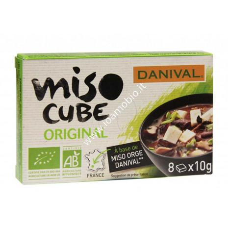 Miso Cube Danival Bio 80g - dadi di miso d'orzo - Condimento macrobiotica
