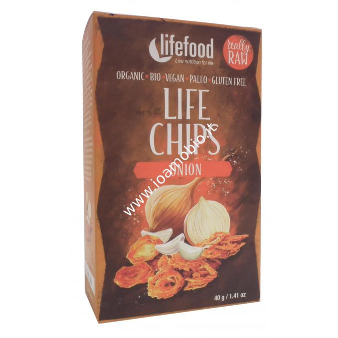 Chips Croccanti di Cipolla Raw 40g - Verdure Lifefood