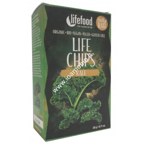 Chips Croccanti di Cavolo Verde Raw 20g - Verdure Lifefood