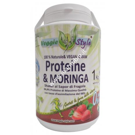 Veggie Style - Vegan Protein Fragola e Moringa 1kg - Proteine Vegane Biologiche
