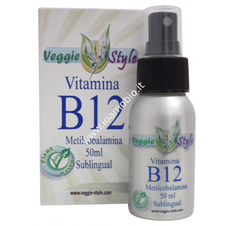 Veggie Style Vitamina B12 liquida sublinguale - Integratore di Metilcobalamina