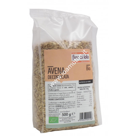 Avena decorticata biologica italiana Fior di Loto 500g - Cereali in chicco