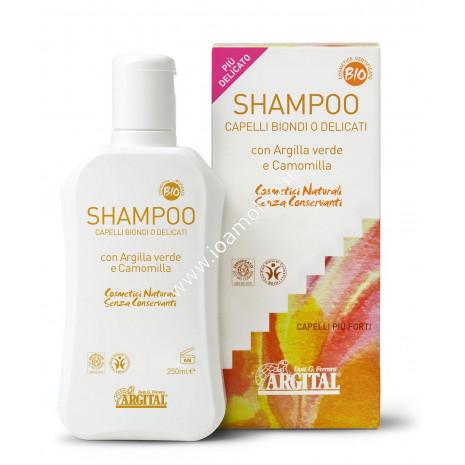 Shampoo Capelli Biondi o Delicati 250ml - Argital con argilla verde e camomilla