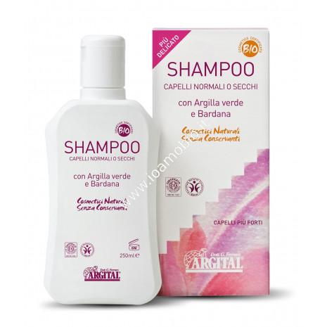Shampoo Capelli Normali o Secchi 250ml - Argital con argilla verde e bardana