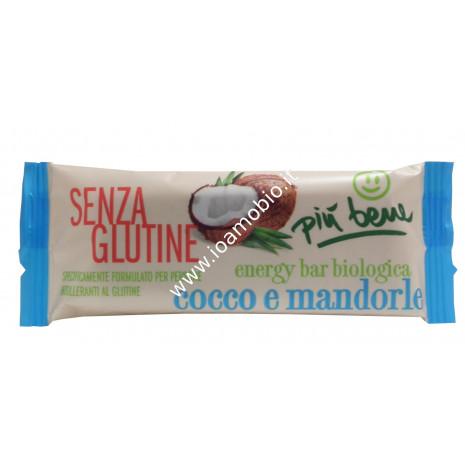 Barretta Datteri Cocco e Mandorle 35g - Senza Glutine Più Bene