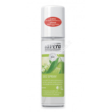 Deodorante Spray fresh Verbena e Limone 75ml - Lavera Biologico